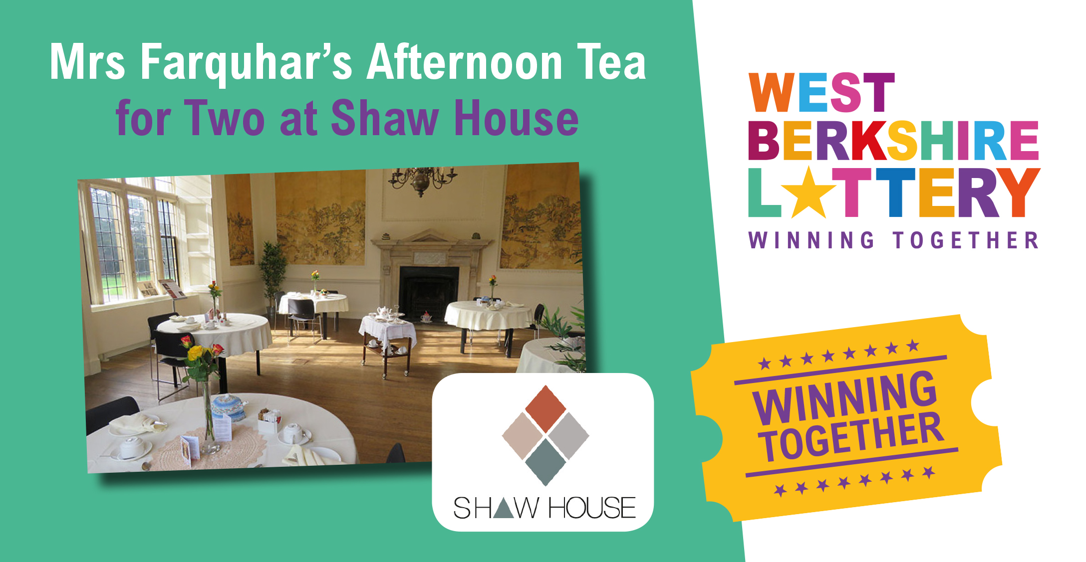Win Afternoon Tea for Two at Shaw House in this weeks Summer Raffle!