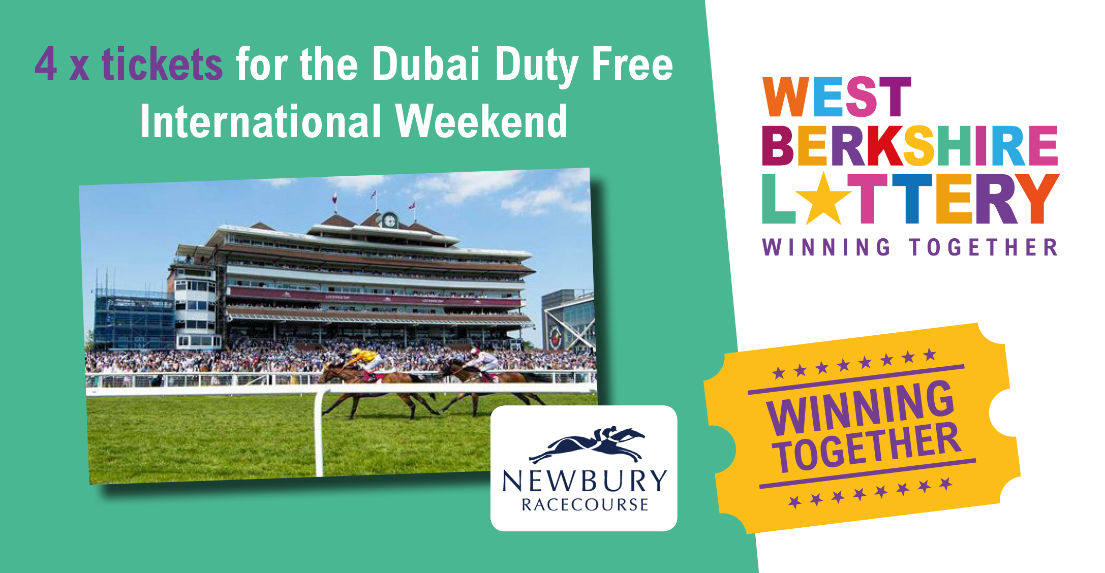 Win a day out at the races for 4 in the last week of the Summer Raffle!