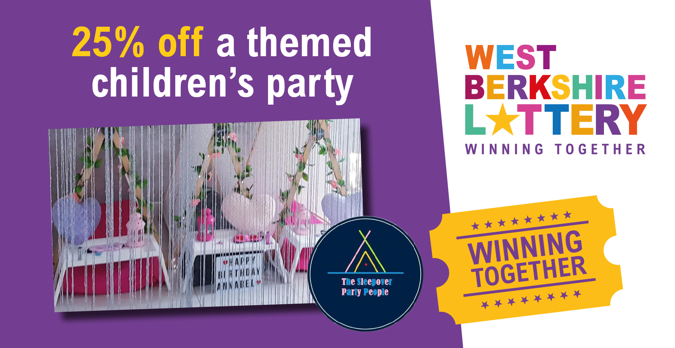 Treat your little ones to a magical themed party with 25% off!